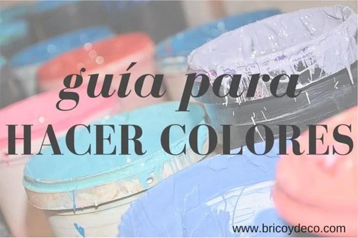 Guía para hacer tú mismo el color de pintura con tinte