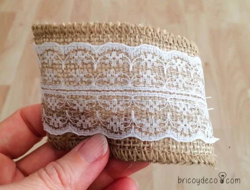 tiras de tela para hacer un topiario