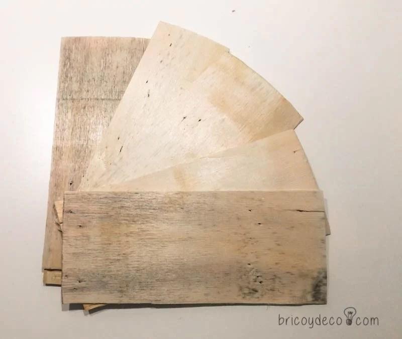 madera de una caja de fruta