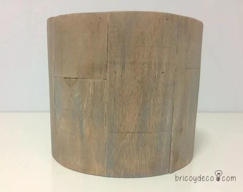 madera teñida y decapada