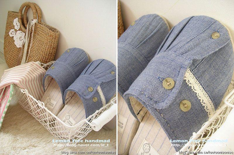 reciclar una camisa en unas pantuflas