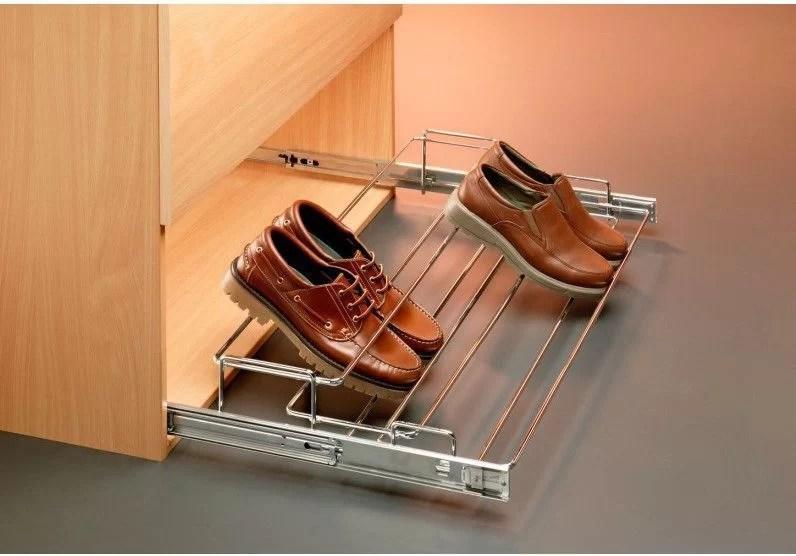 organizar los zapatos con accesorios extraíbles
