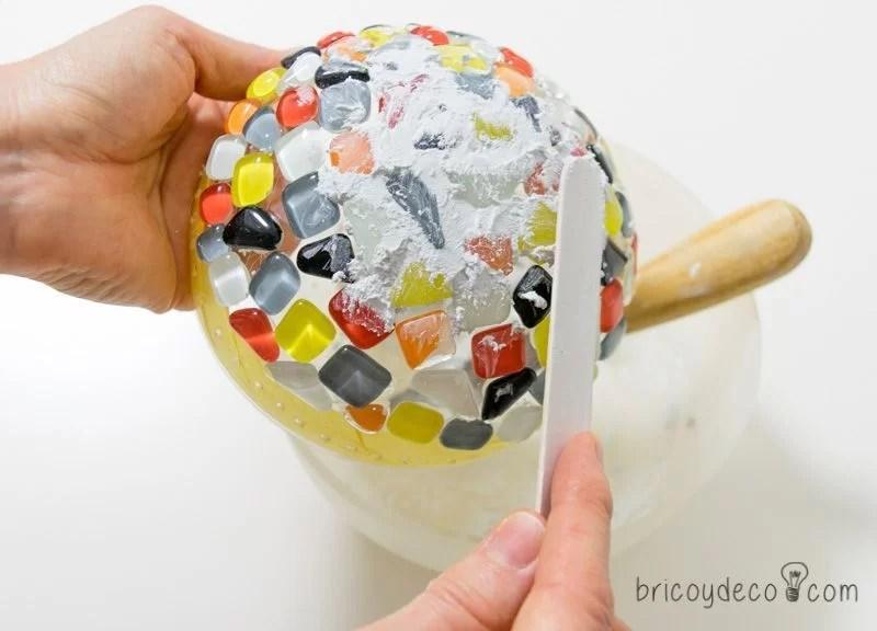 rejuntar el mosaico