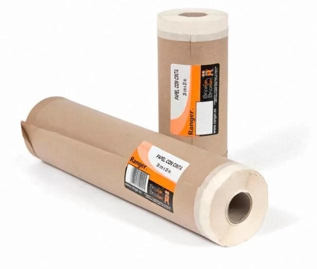 combinación cinta de enmascarar para pintar y papel