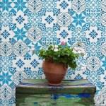 decorar con baldosas hidráulicas la terraza