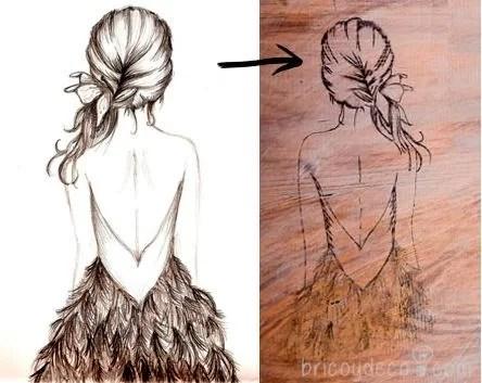 calcar un dibujo sobre madera