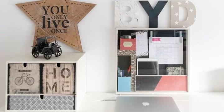 planificador para escritorio DIY