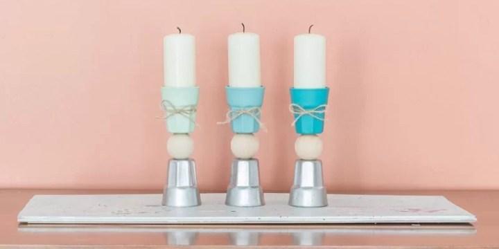 reciclar con pintura en spray unos vasos de licor