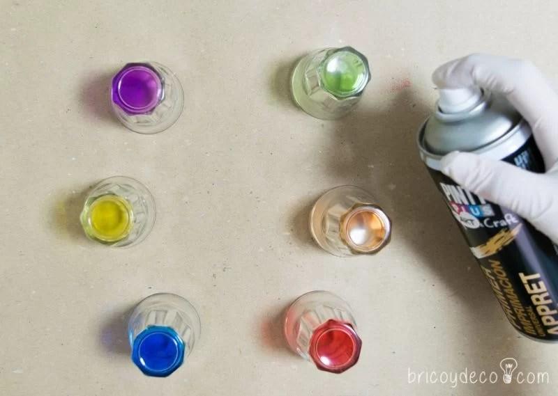 imprimar y reciclar vidrio con pintura en spray