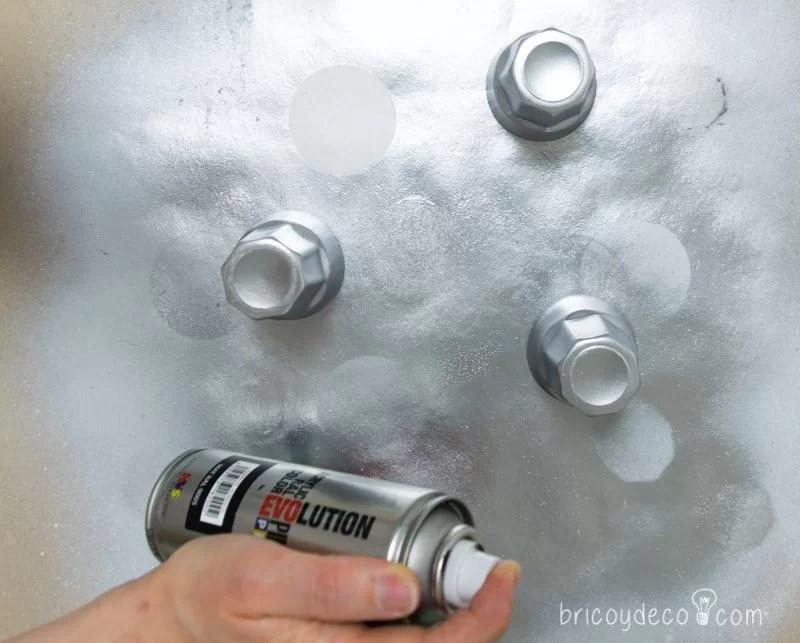 envejecer y reciclar vidrio con pintura en spray