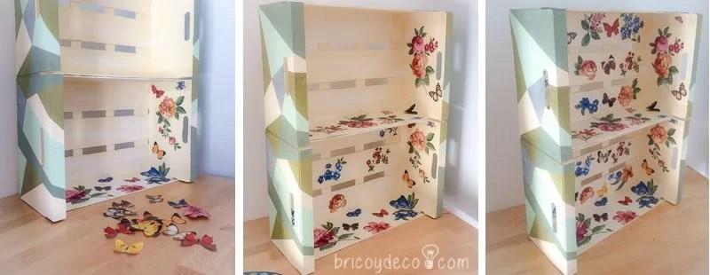 C mo hacer una estanter a con cajas de fruta paso a paso - Como decorar cajas de fruta ...