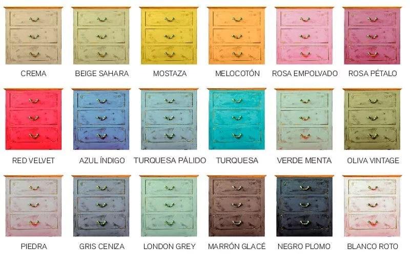 gama de colores de Chalk Paint Spray Pinty Plus