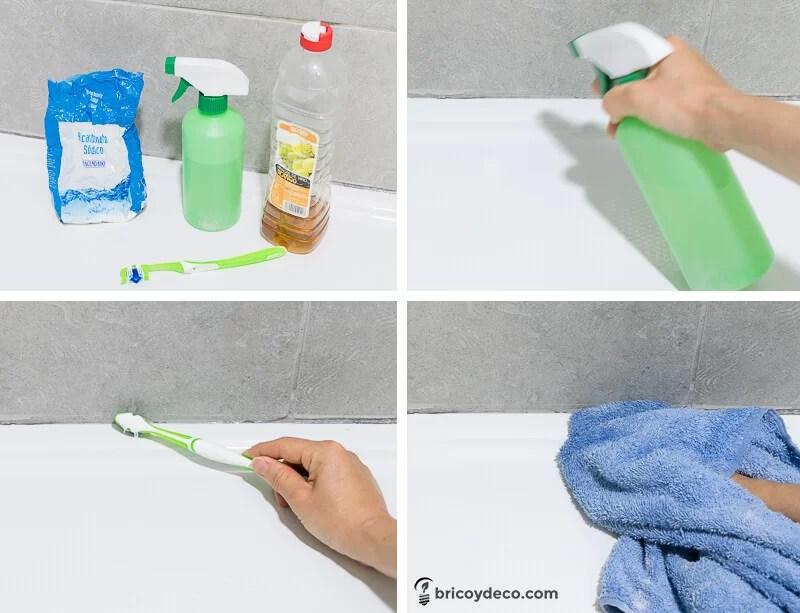C mo eliminar el moho de las juntas de silicona paso a - Como quitar el moho del bano ...