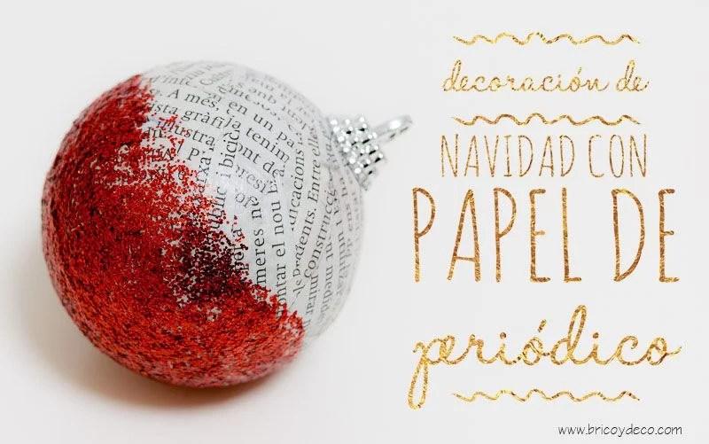 Decoración de Navidad: 22 ideas con papel de periódico   Bricoydeco.com