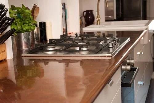 encimeras de cocina de cobre