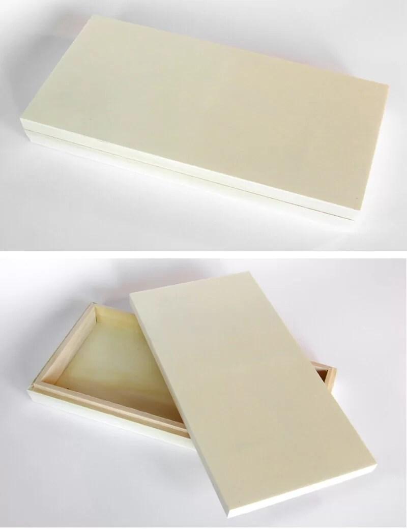 reciclar una caja de madera con la técnica del decoupage y plantillas de stencil