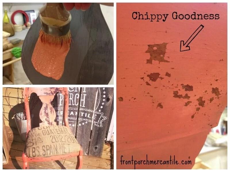 cómo crear un efecto chippy con milk paint y aceite de cáñamo