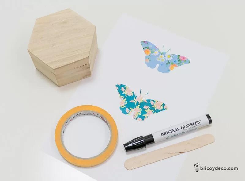 materiales para transferir imágenes sobre madera