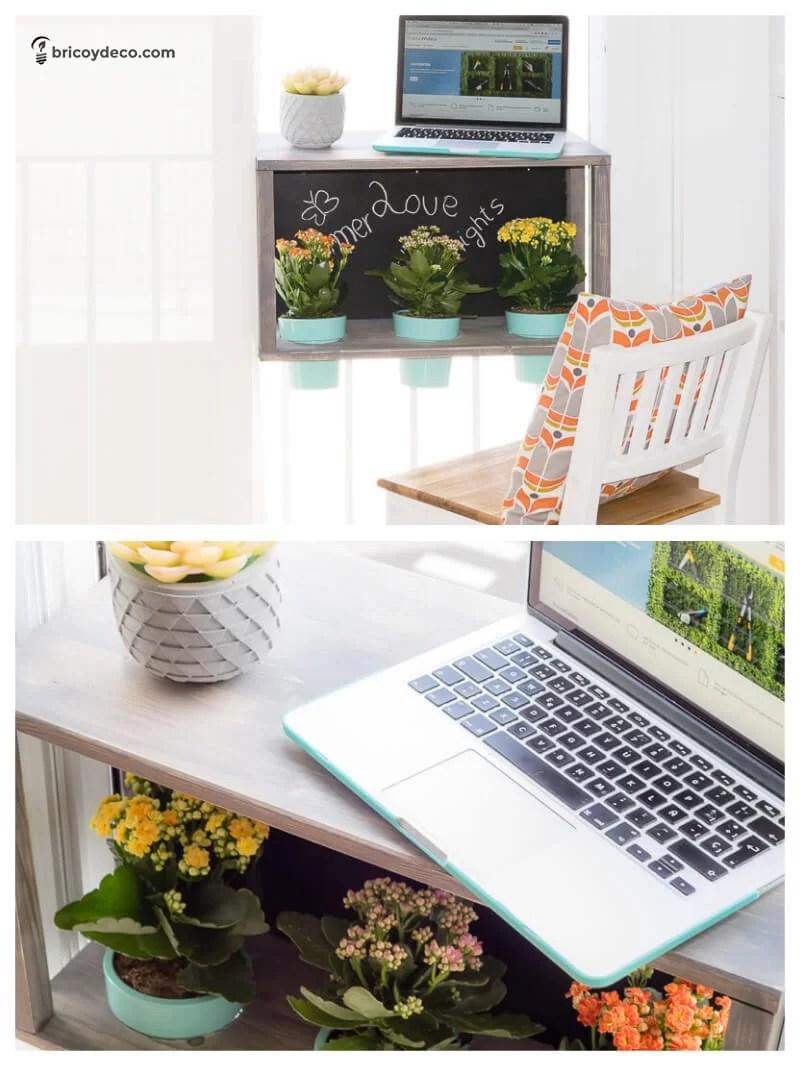 muebles DIY para terraza: barra para balcón