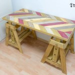 mesa de escritorio con palets