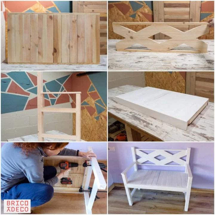 cómo hacer un banco de madera para balcón o terraza