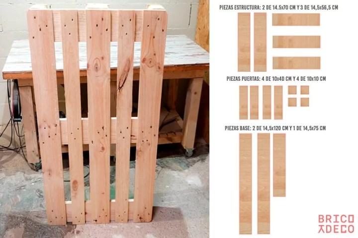 construir una estantería con un palet EPAL