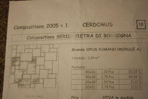 carrelage pose en opus romain et joints
