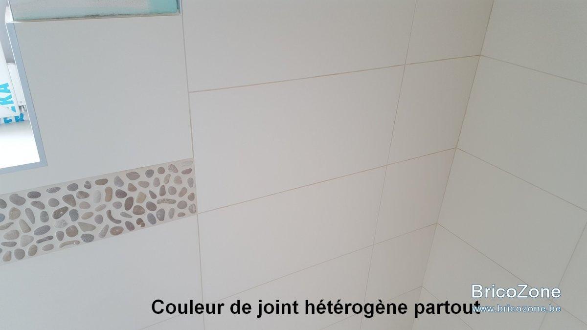 couleur joints neufs carrelage mural