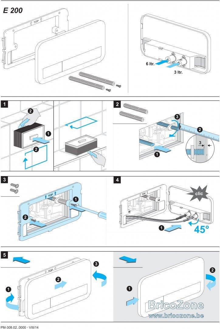 enlever plaque commande wc encastre