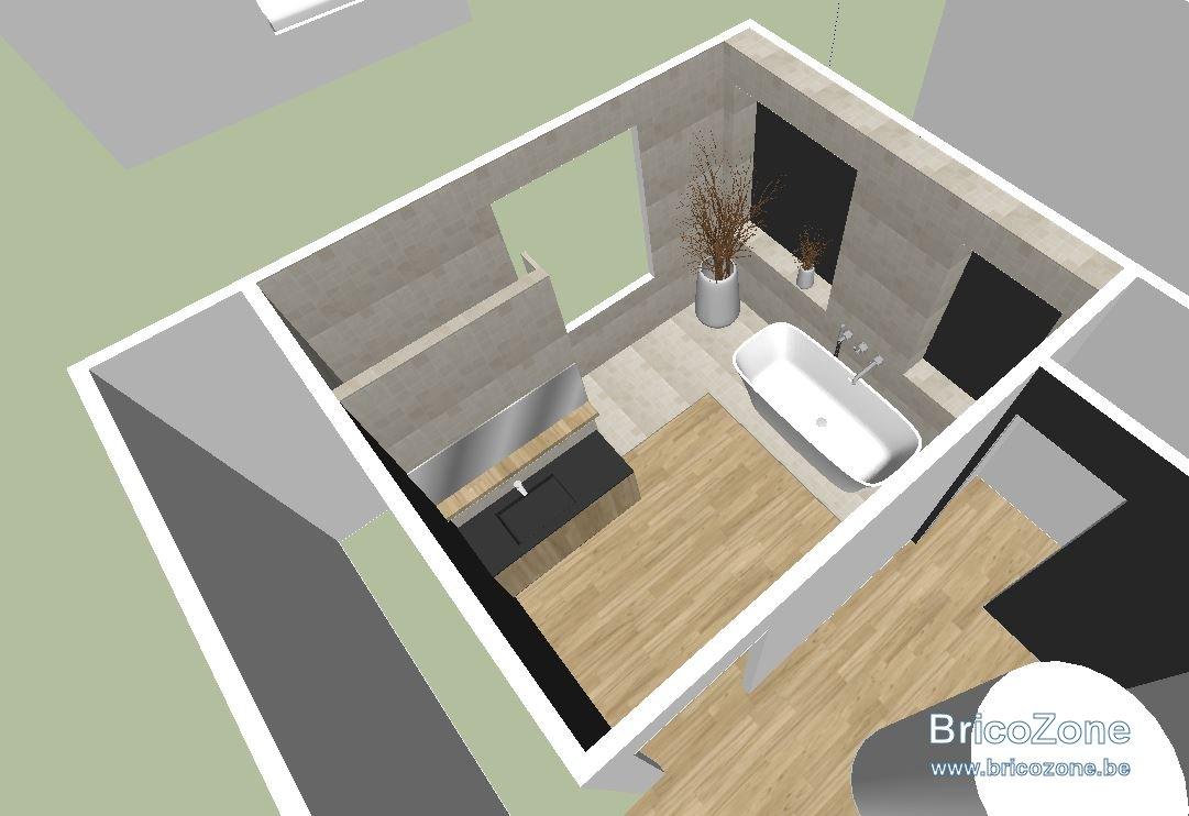 Amenagement Salle De Bains A L Etage Sur Plancher Bois