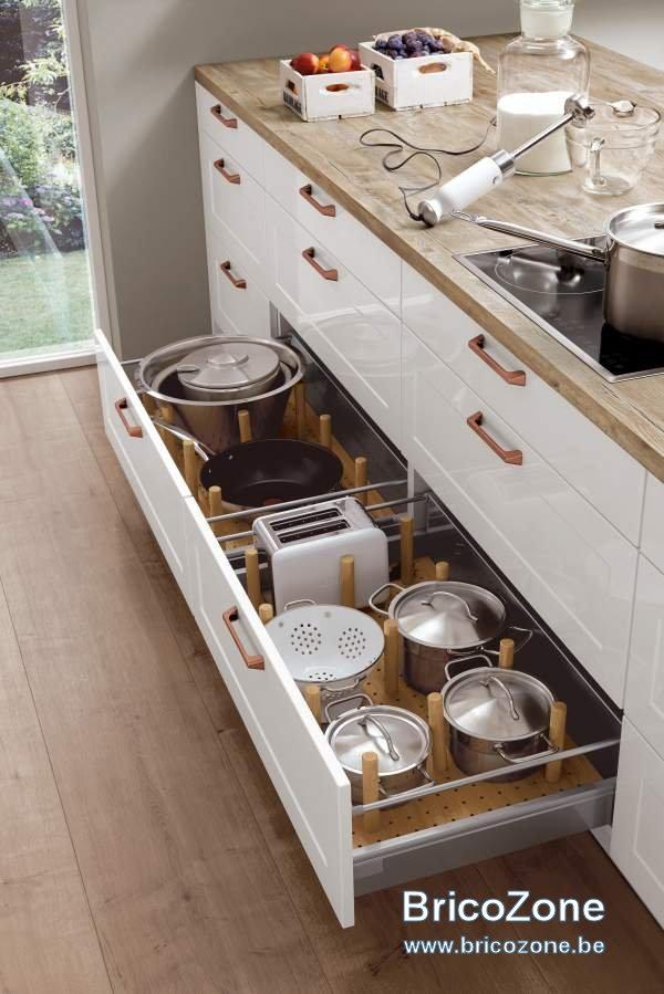 cuisine ixina interieur des tiroirs