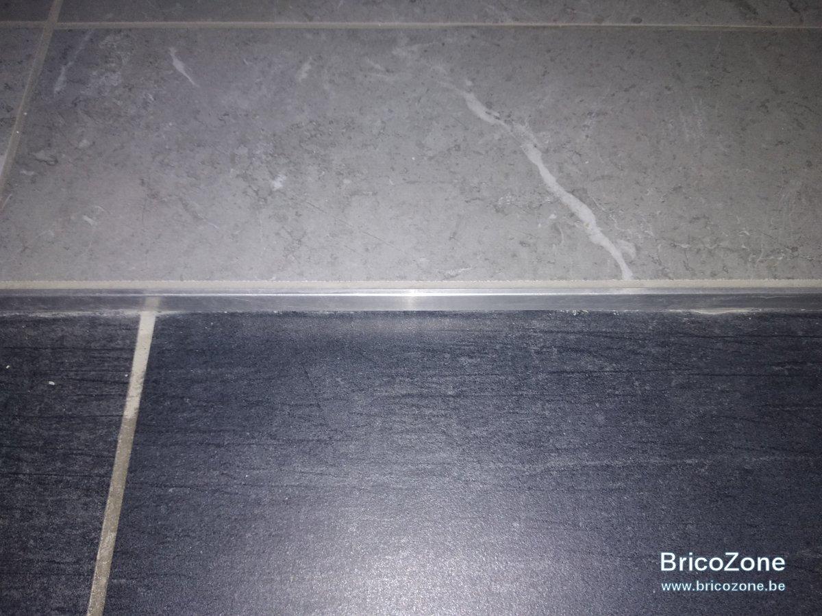 carrelage profile aluminium