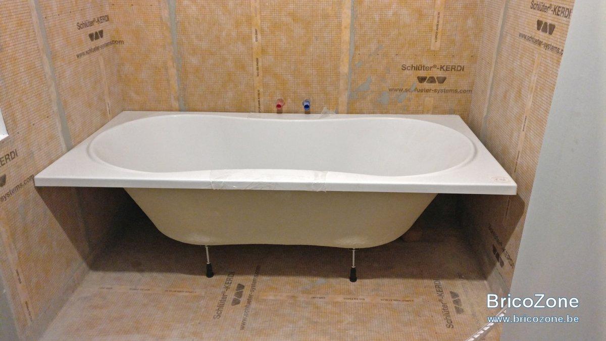 hauteur robinet baignoire