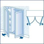 placard niche a fermer avec 2 portes