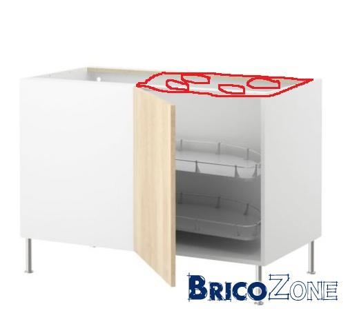Ikea Taque De Cuisson Dans Meuble Angle Coulissant