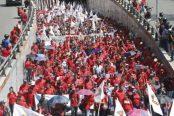 Así se movilizó el PSUV rumbo a la avenida Urdaneta