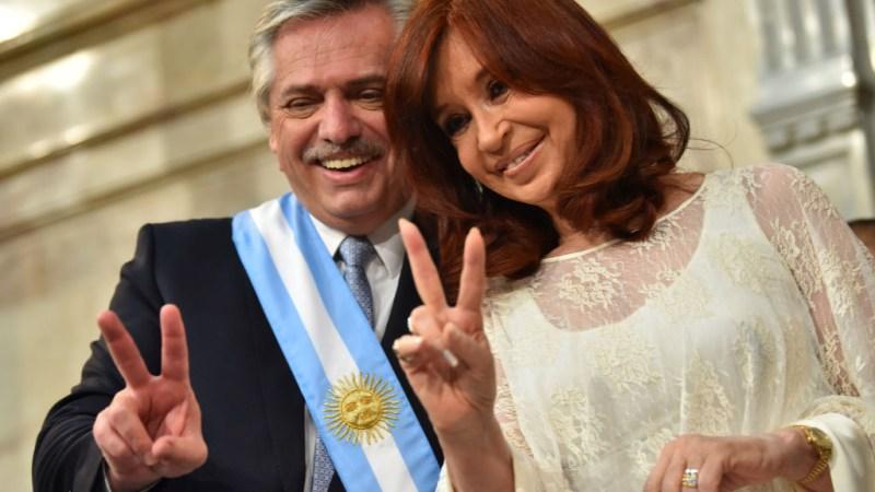 Argentina festeja la toma de posesión de Alberto y Cristina