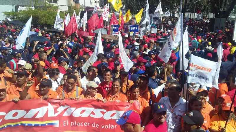 Marcha Antiimperialista denunció en Caracas las sanciones contra el pueblo trabajador de Venezuela