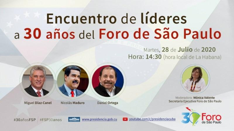 Nicolás Maduro, Díaz-Canel y Daniel Ortega, estarán hoy juntos en un encuentro virtual