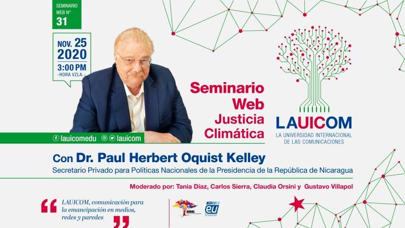 """Lauicom celebra seminario internacional sobre """"Justicia Climática"""""""
