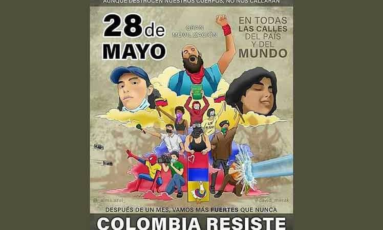 Decenas de personalidades de todo el mundo firman un manifiesto en Solidaridad con Colombia