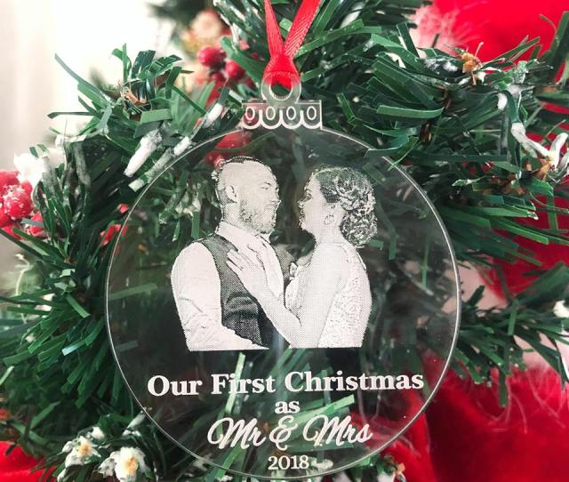 Mr Mrs Christmas Decoration Mr Mrs Photo Ornament Unique Christmas Gift For Newlyweds