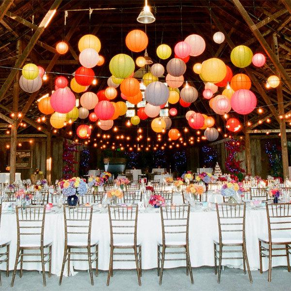 papierowe lampiony wesele
