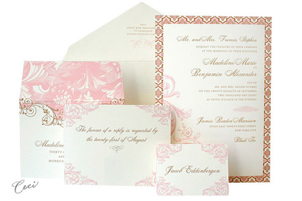 Regas Ilrated Map Wedding Invitation