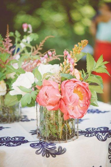 pink wedding centerpieces