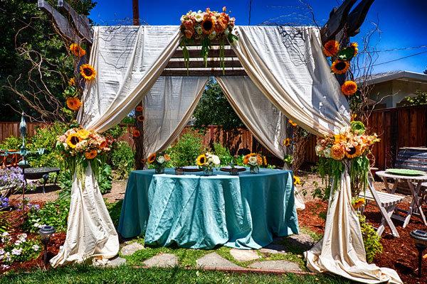 rustic wedding ceremony decor