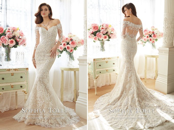 The 25 Most Popular Wedding Gowns of 2016   BridalGuide 1  Sophia Tolli for Mon Cheri  168381  Wedding gown
