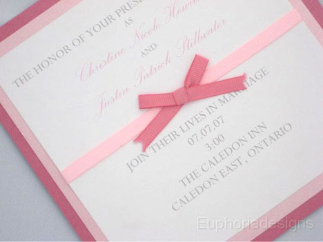 Wedding Invitation by Euphoria Designs