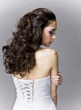 bride bridal hairstyle ideas for curly hair