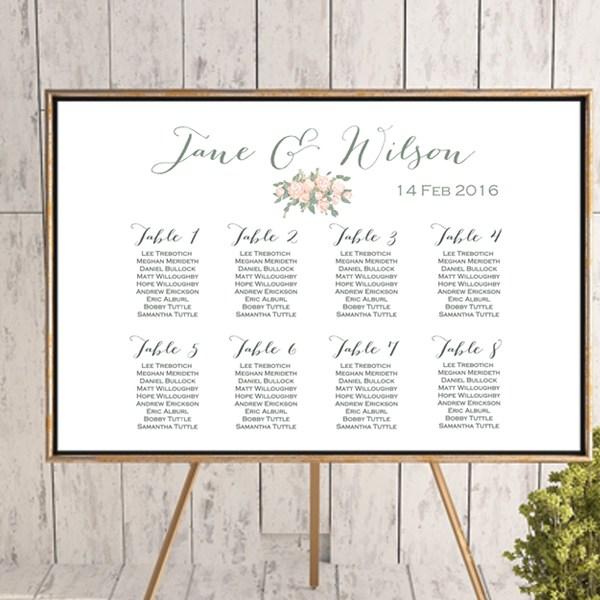 Seating Chart Wedding.Custom Wedding Seating Chart Printable Wd11